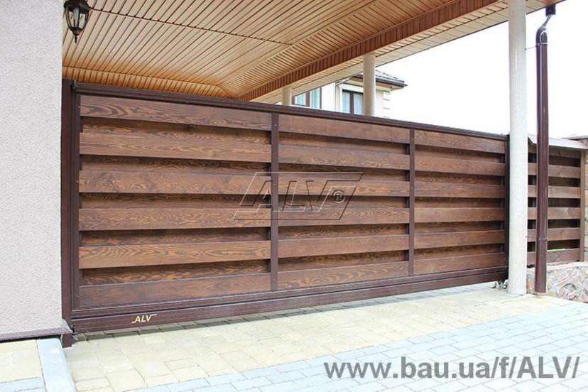 Ворота откатные alv откатными воротами консольного типа