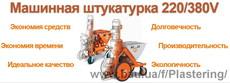 Машинная штукатурка 220В/380V
