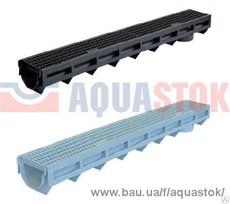 Лоток AQUA-TOP DN90 H100 с пластиковой решеткой