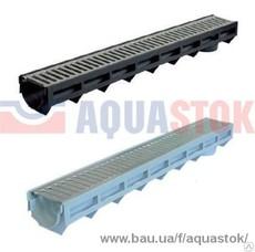 Лоток AQUA-TOP DN90 H100 со штампованной оцинкованной решеткой