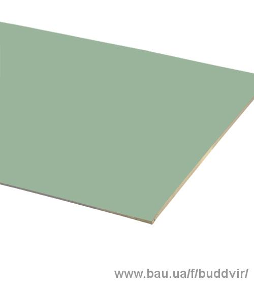 Гипсокартон Knauf влагостойкий 12,5*1200*2500
