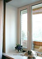 Двустворчатое окно REHAU Ecosol DESIGN 60