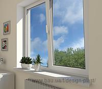Двустворчатое окно REHAU премиум класса