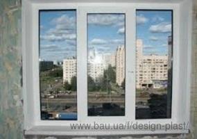 Трехстворчатое окно REHAU Ecosol DESIGN 60