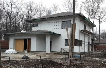 Строительство жилого дома в пос. Песочин — ЕвроДом