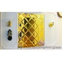 Зеркальная золотая плитка - панно из зеркала золотого собственного производства.