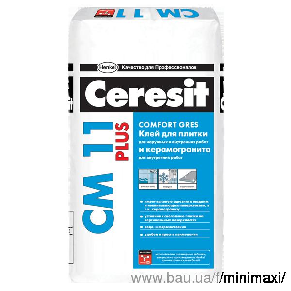 Клей для керам. пл. CERESIT СМ-11 PLUS Comfort Gres 25кг (54 мішка в піддоні)