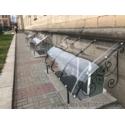 Защитный экран приямка из монолитного поликарбоната Borrex 3мм прозрачный