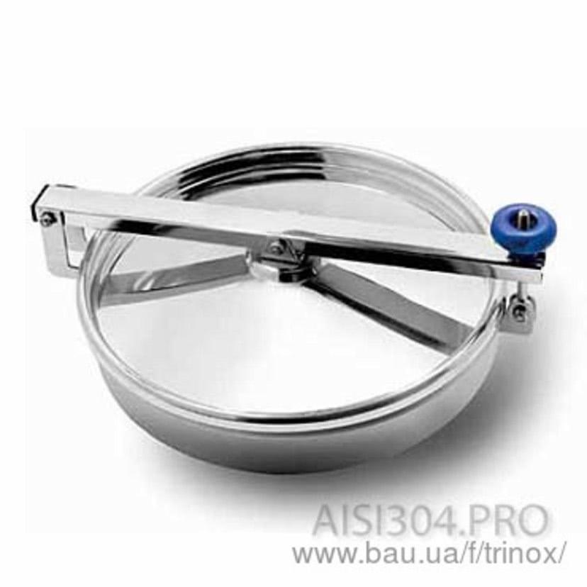 Люк круглый нержавеющий без давления 300 мм