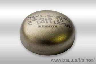 Заглушка эллиптическая нержавеющая 129*2,0 мм DIN 11850 AISI304 — Тринокс