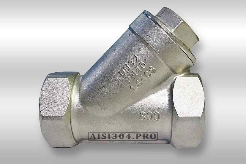 Фильтр угловой нержавеющий У-образный Dn 25 AISI 304