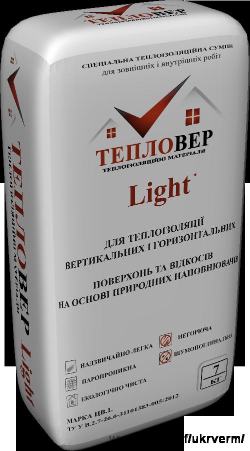 Штукатурка для газоблока и керамоблока Тепловер Light теплоизоляционная 25л