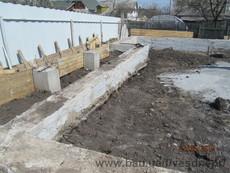Строительство фундамента ленточного для дома в Днепропетровске