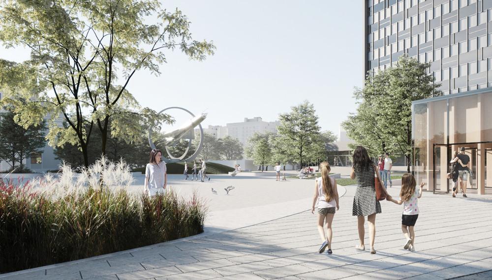 Проект архитектурного бюро SHOVK и студии Kotsiuba  на обустройство общественного пространства в Виннице