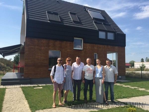 СОЛВИН провела ознакомительную экскурсию по проекту Оптима Хауз для группы архитекторов из Киева и Кишинева.