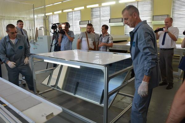 В Украине открыт отечественный завод по производству солнечных панелей