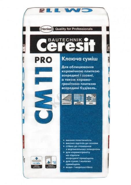 Ceresit СМ 11 Pro клеящая смесь для облицовки керамической плиткой внутри и снаружи.