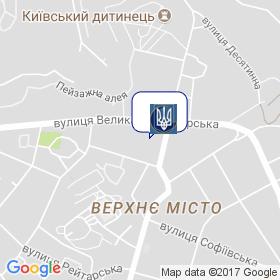 Минрегионстрой Украины на карте