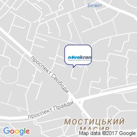 Новокран на карте