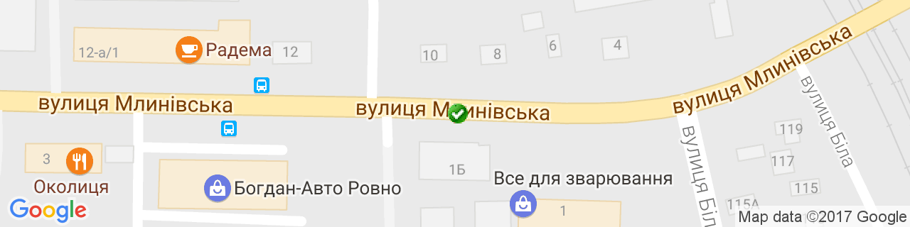 Карта объектов компании АВДЕКС