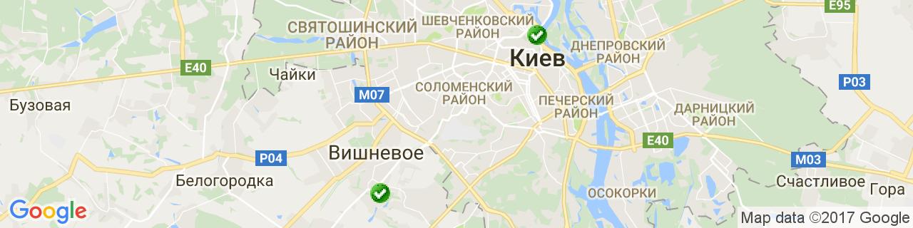 Карта объектов компании ТМ ДИЗАЙН ПЛАСТ