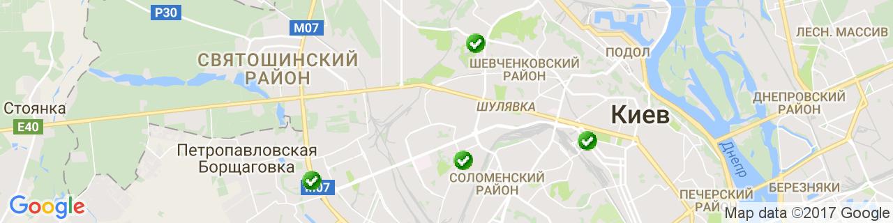 Карта объектов компании Живая Сталь