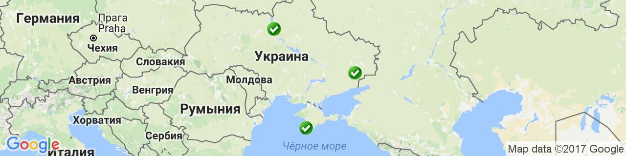 Карта объектов компании Солнечный Дом