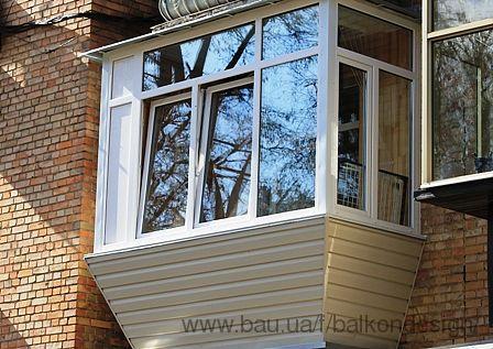 Балкон с выносом в хрущевке в киеве. купить или заказать рем.