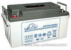 leoch djw 12v 100ah аккумулятор гелевый технология agm срок службы - до 10 лет для ИБП, котлов.