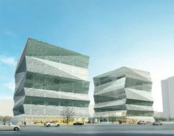 Yangpu University Gateway: бизнес-зона + учебно-исследовательские объекты