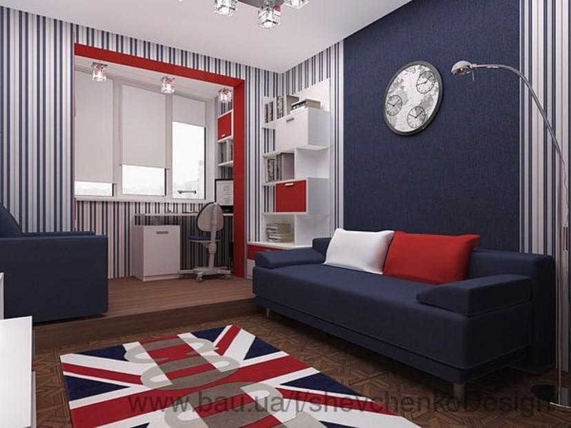 Дизайн комнат для подростков-английского стиля
