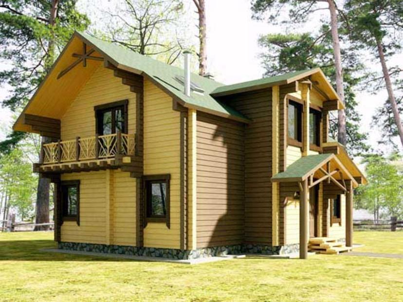 Дизайн фасада деревянного дома фото