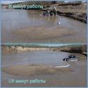 Возможности ручных земснарядов Piranha Pumps - намыв песка (насыпей, островов)